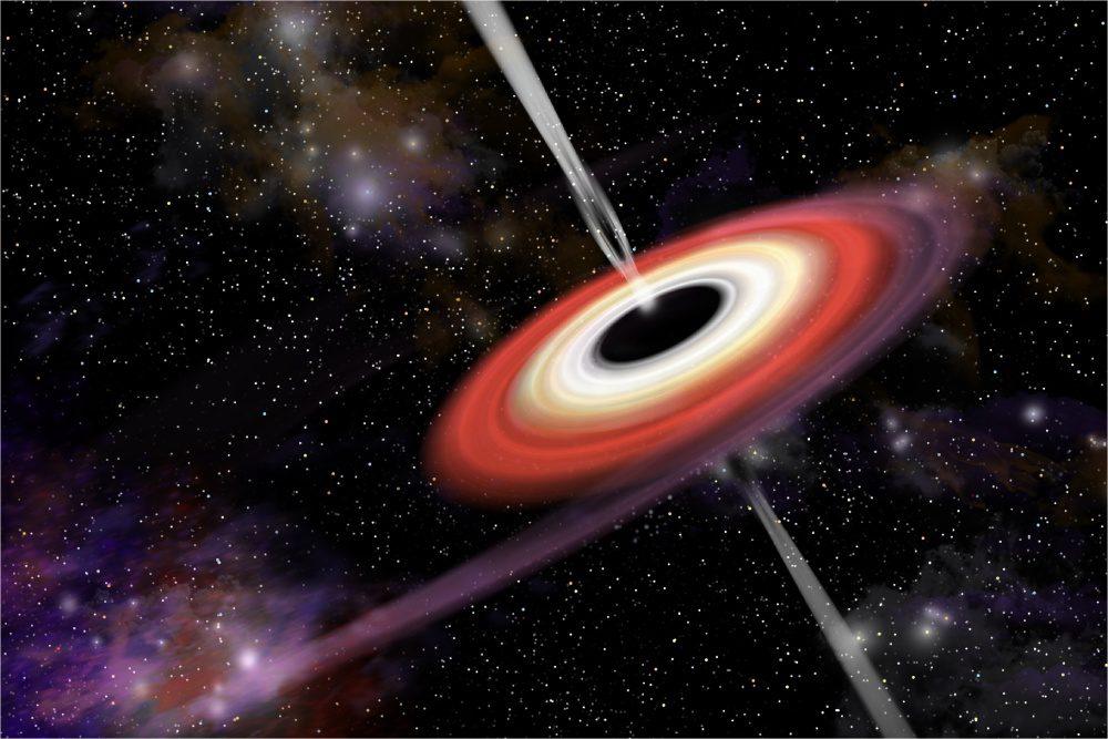 czarna dziura z dyskiem
