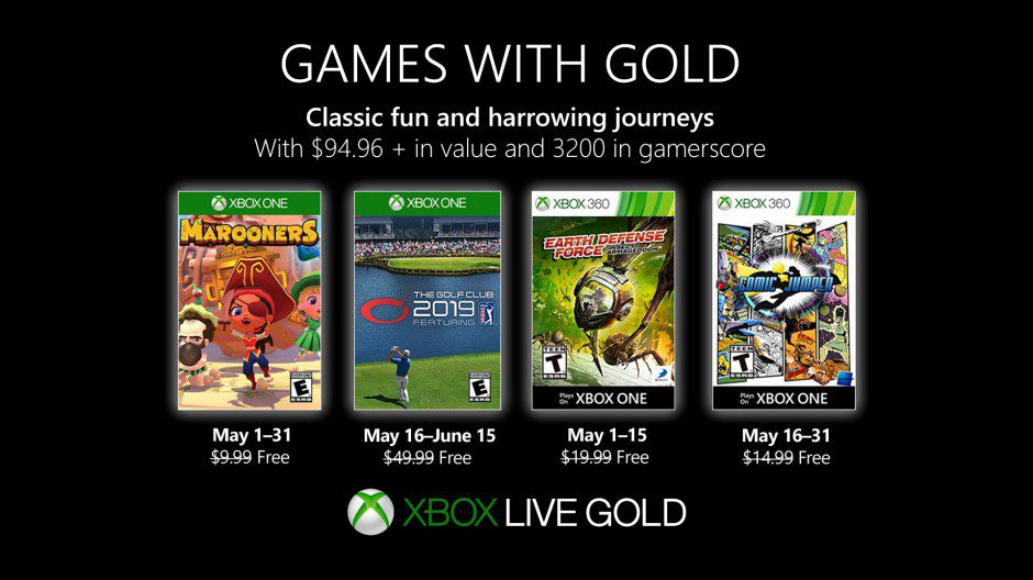 Games with Gold maj 2019
