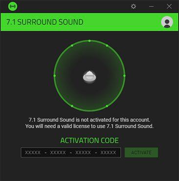 Razer Kraken X oprogramowanie surround sound
