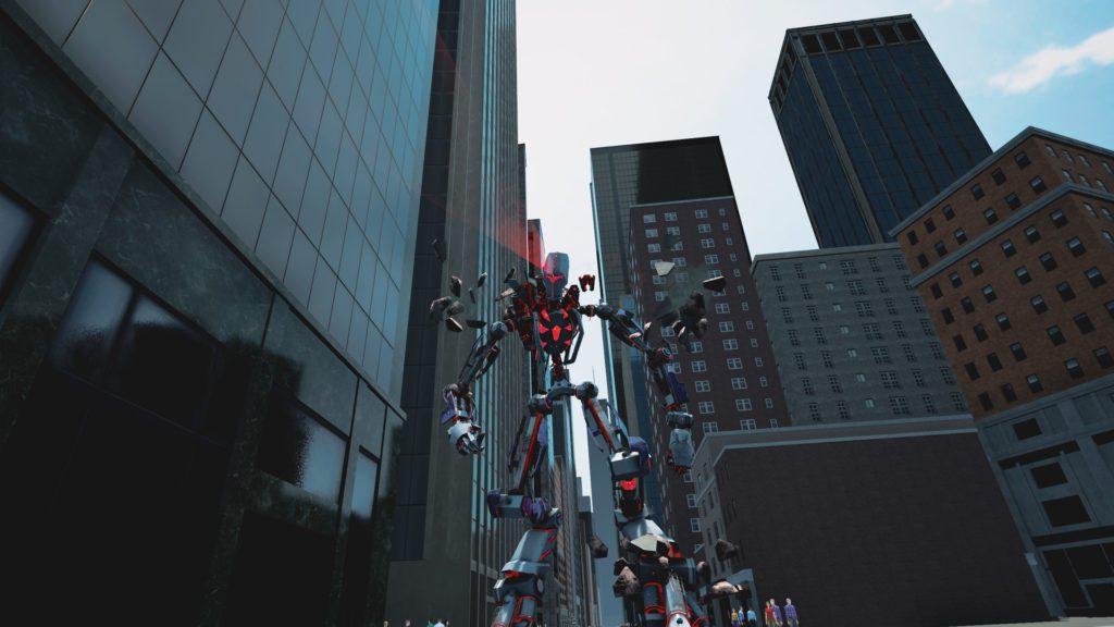 spider-man walka z robotem