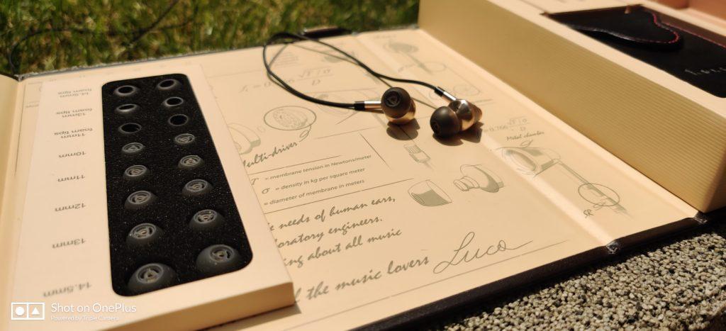 słuchawki 1more E1001 Triple Driver z silikonowymi nakładkami