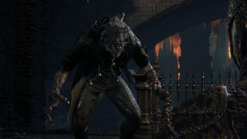 Bloodborne Ojciec Gascoigne jako drugi boss