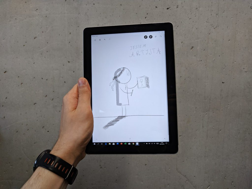 Microsoft Surface Go przykładowy rysunek