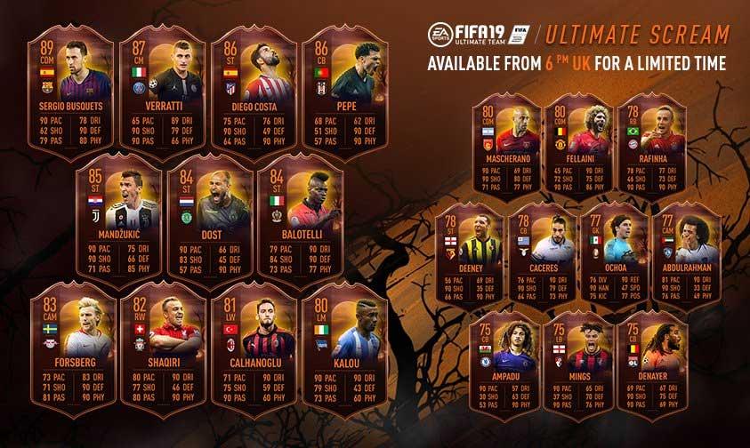Fifa 19 - karty z okazji Halloween