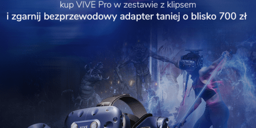 Gogle VR HTC VIVE Pro plus klips = rabat 50 % na adapter bezprzewodowy