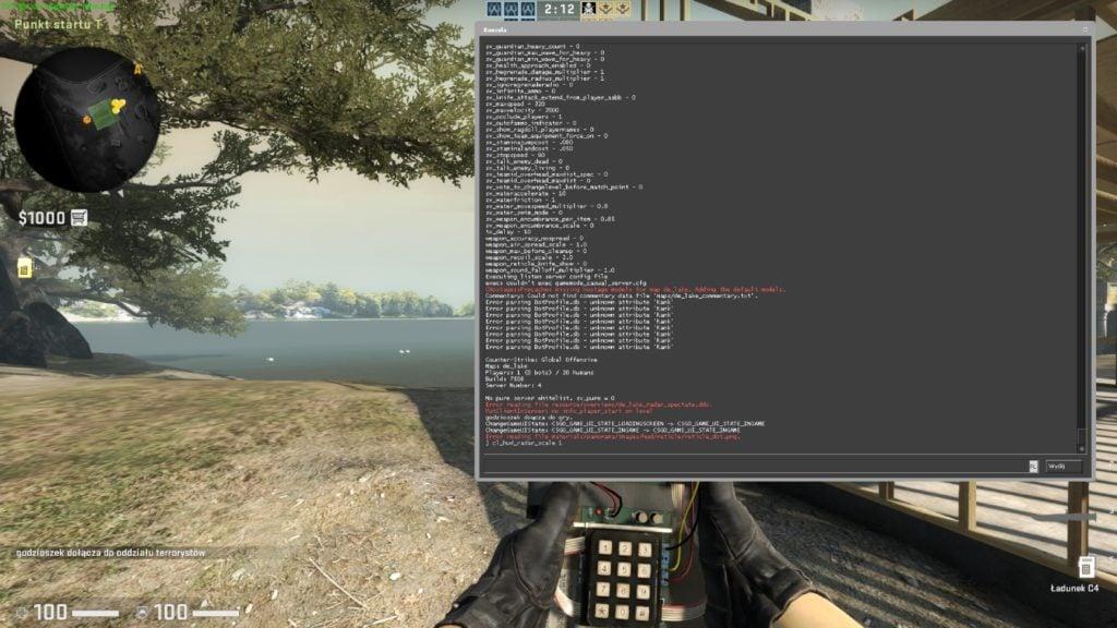 Komendy CS:GO wpisywanie