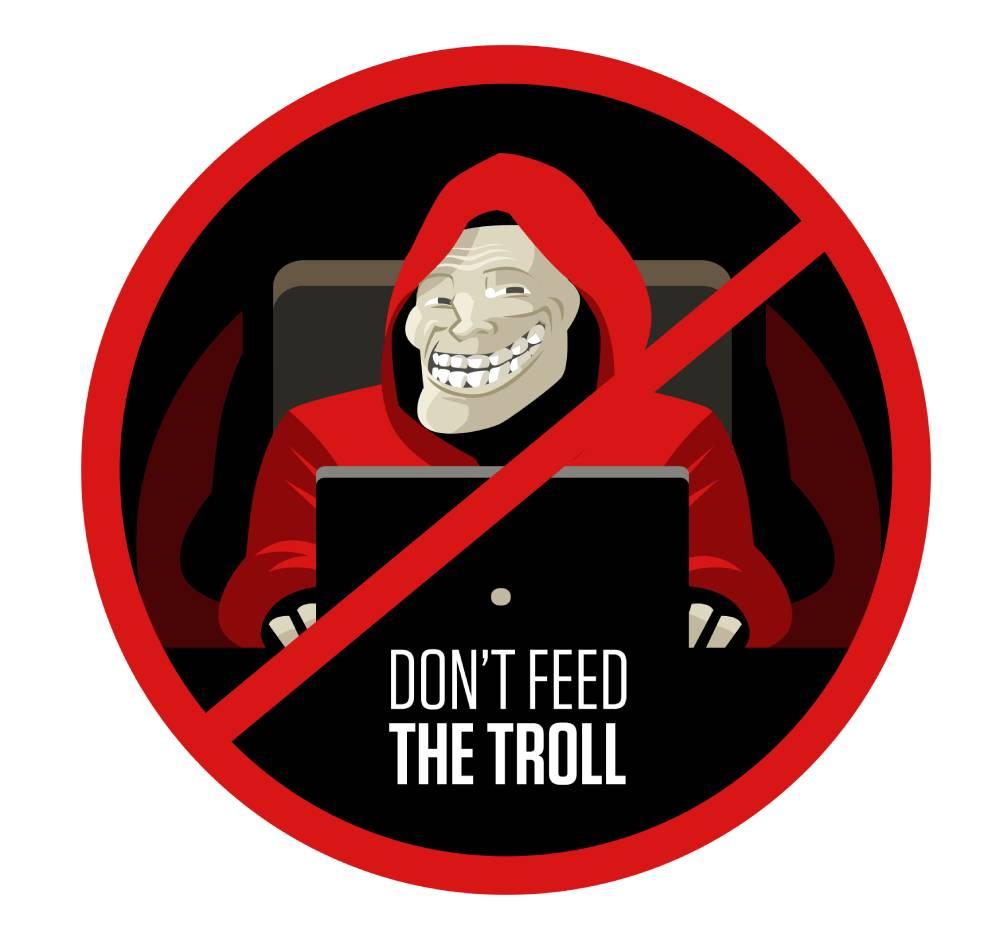 nie karm trolla