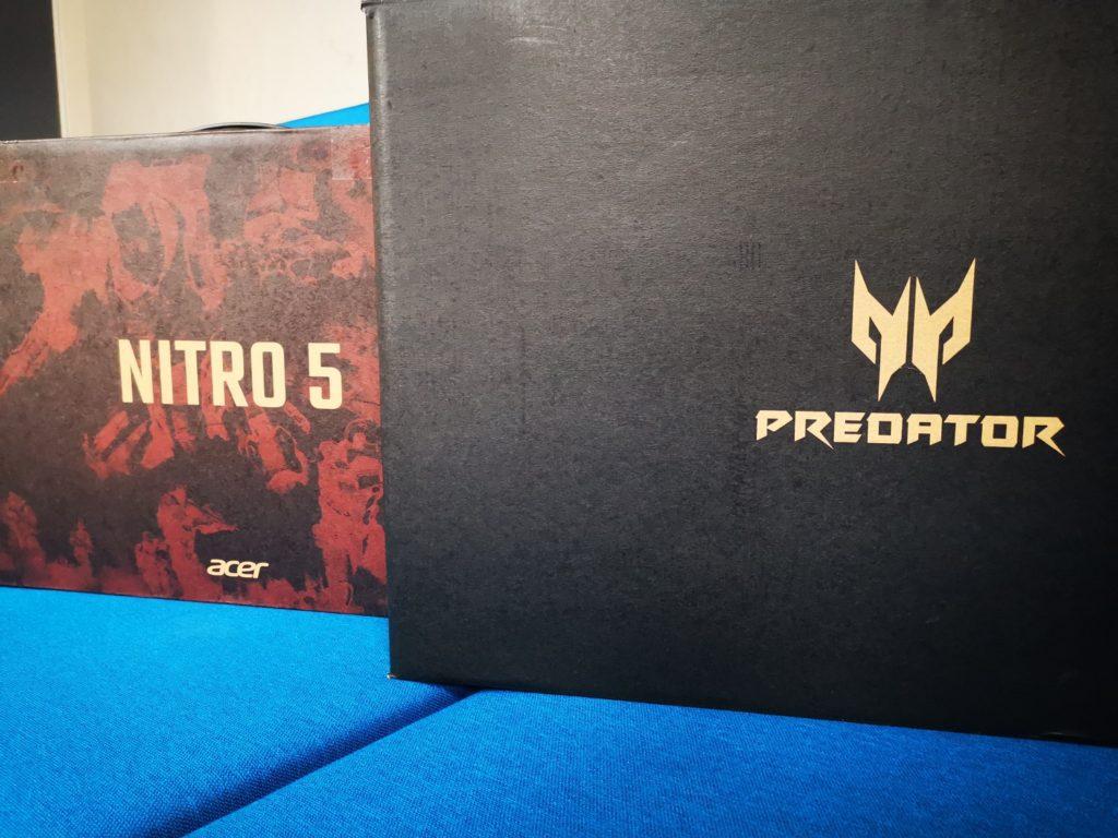 pudełko Acer Nitro 5 i Predator Helios 300
