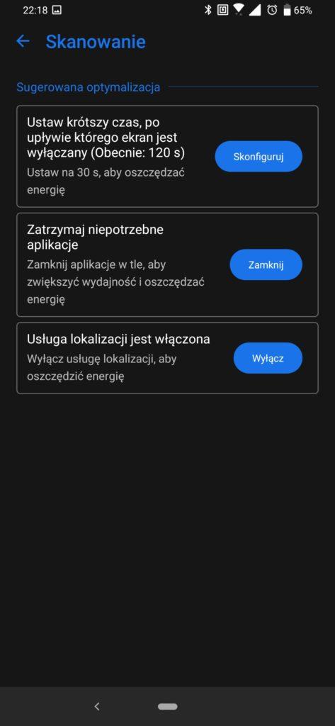 Asus Zenfone 6 powermaster optymalizacja baterii