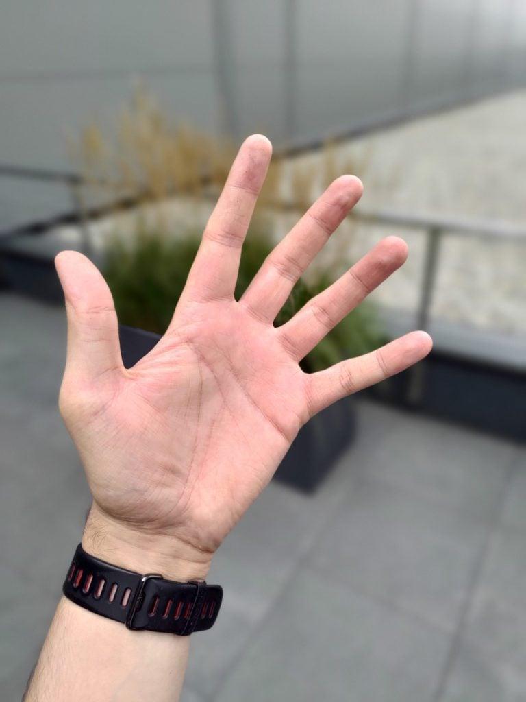 Asus Zenfone 6 tryb portretowy zdjęcie ręki