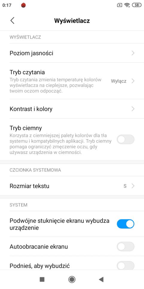 Xiaomi Redmi 7A zrzut ekranu