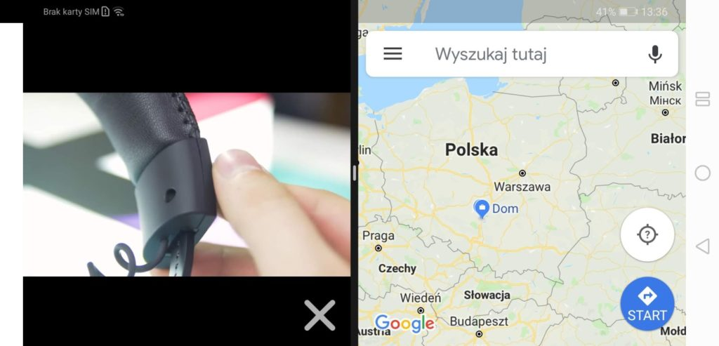 Huawei Mate 20x podzielony ekran