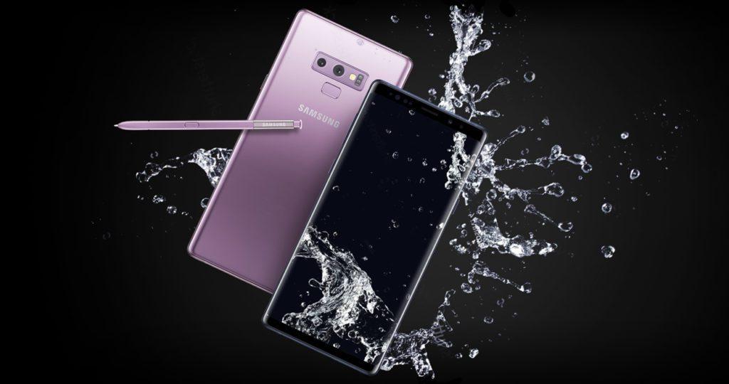 Samsung Galaxy Note 9 odporność na wodę IP68