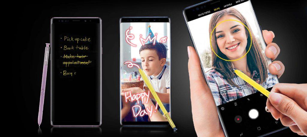 Samsung Galaxy Note 9 notatki odręczne na ekranie