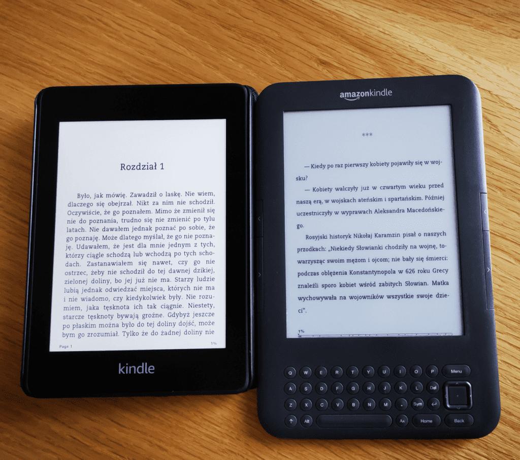 Porównanie obrazu Kindle ppw 4 i Kindle Keyboard