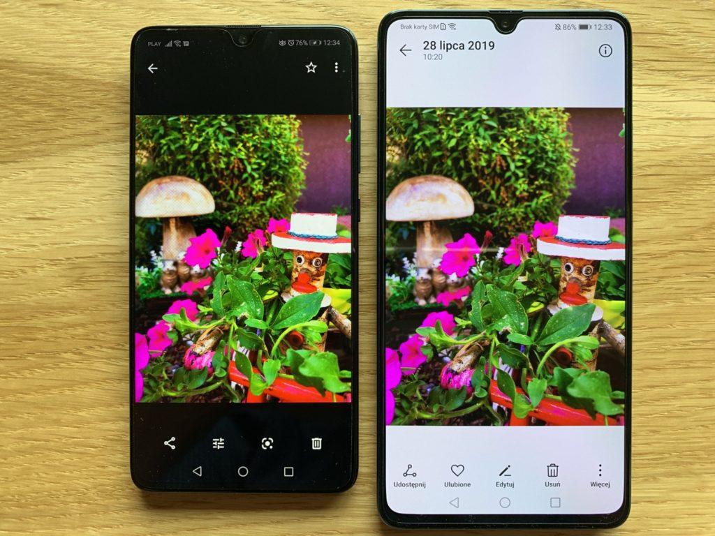 Huawei Mate 20x porównanie obrazu z Mate 20