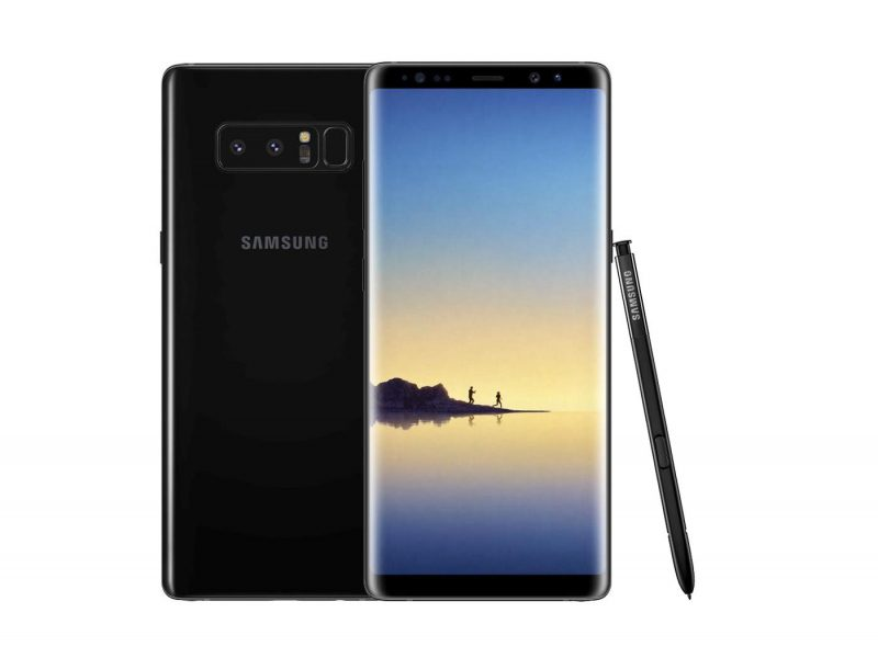 Samsung Galaxy Note 8 z rysikiem