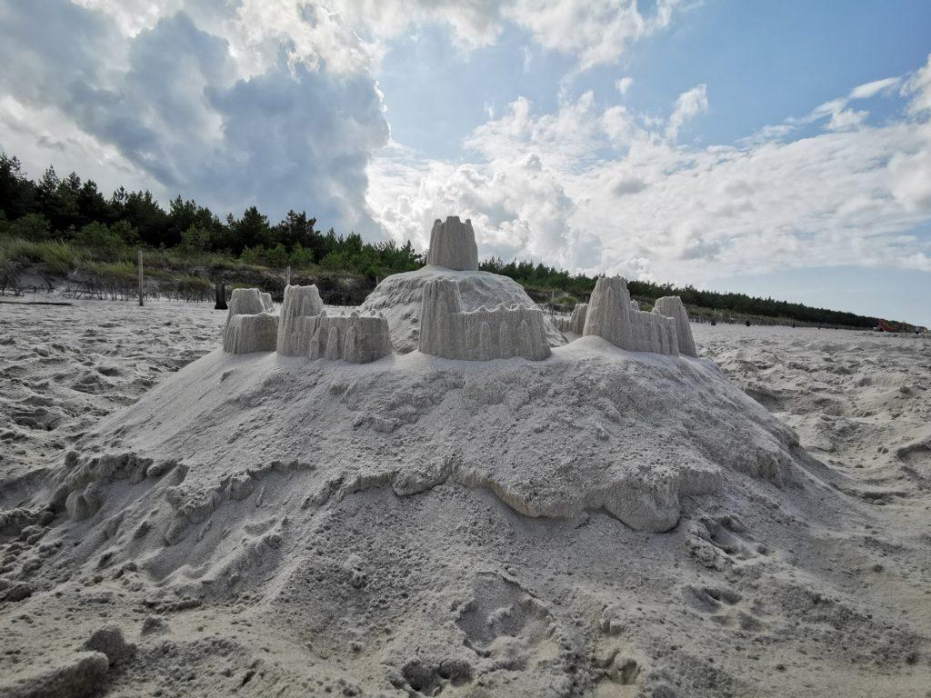 Huawei Mate 20 zdjęcie zamku z piasku