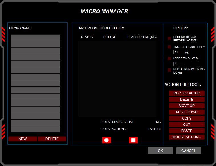 Redragon Impact oprogramowanie Macro Manager