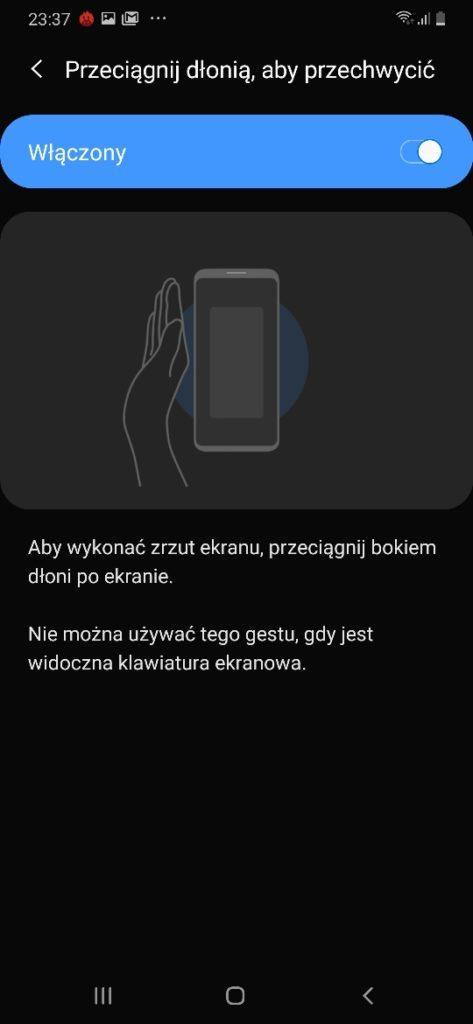 Samsung Galaxy A50 nakładka systemowa