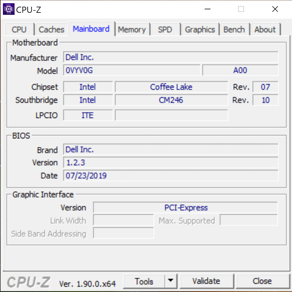 płyta główna i BIOS dell xps 15