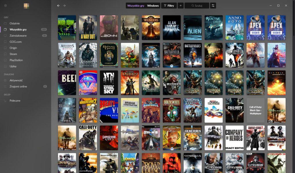Galaxy 2.0 lista wszystkich gier