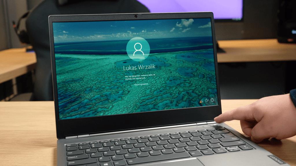 Lenovo ThinkBook 13s - czytnik linii papilarnych