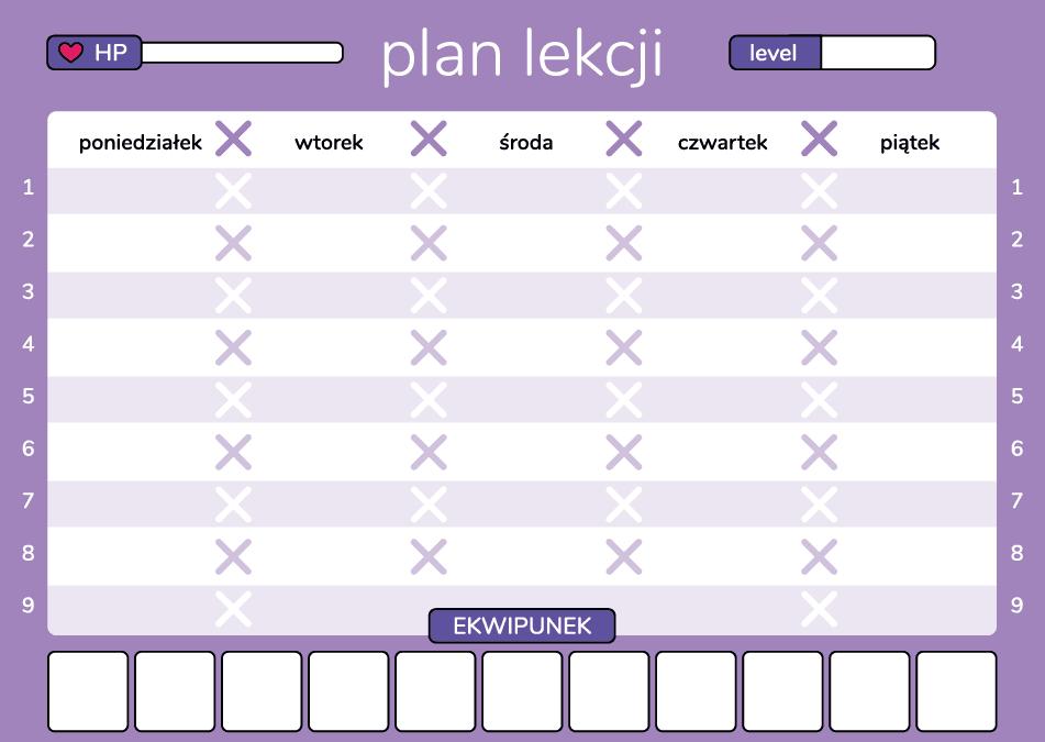 Geex plan lekcji dla gracza