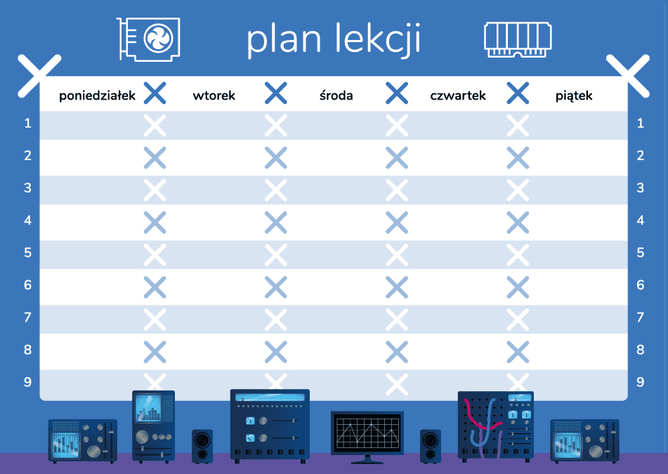Geex plan lekcji komponenty
