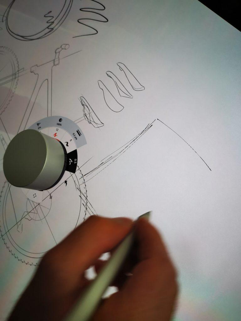 Microsoft Surface Dial zmiana grubości kreski