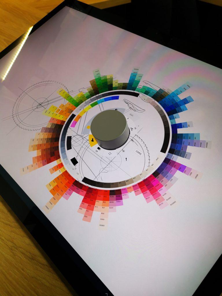 Microsoft Surface Dial wybór koloru
