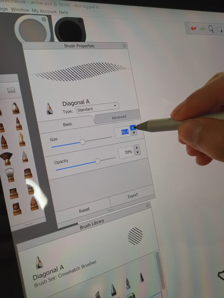 Microsoft Surface Studio 2 zmiana grubości kreski