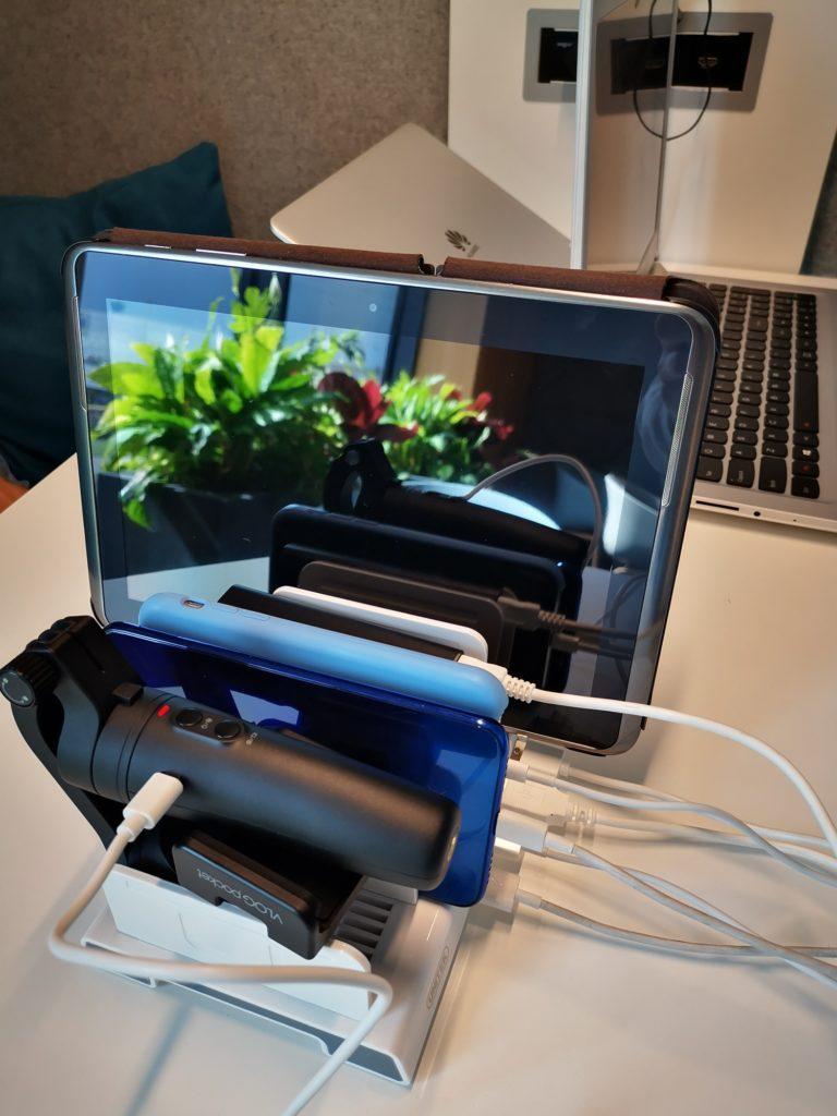 urządzenia podłączone do stacji Unitek 4x USB