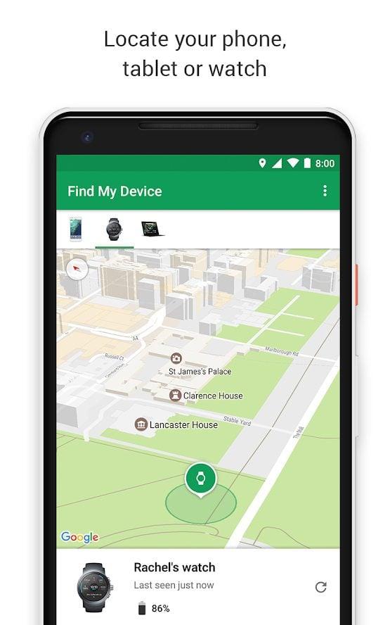 aplikacja find my device