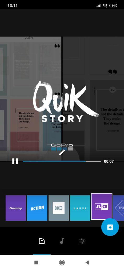 Quik - aplikacja do instastory