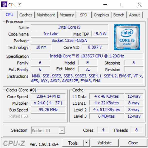 Surface 13 cpu-z 1