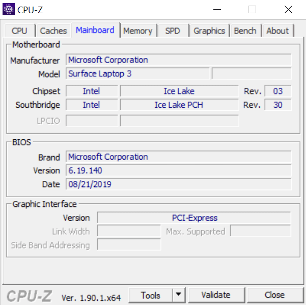 Surface 13 cpu-z 3