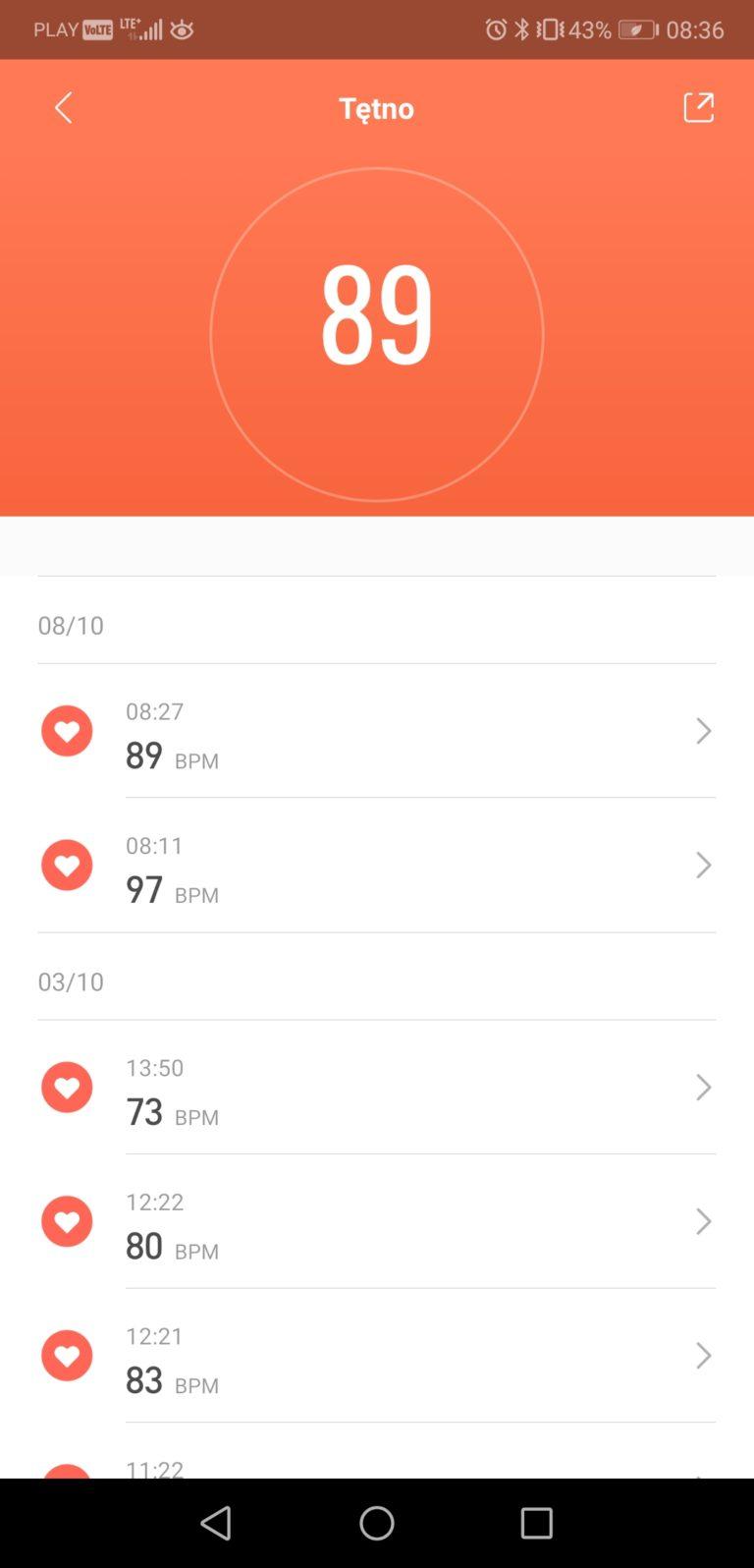 aplikacja Mi Band 4