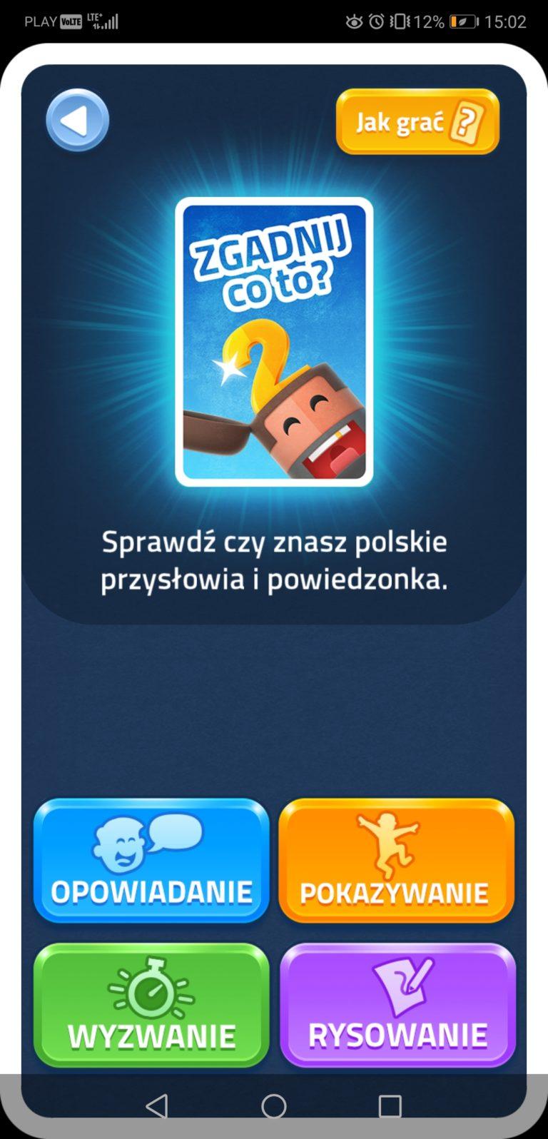 gra aplikacja na imprezę