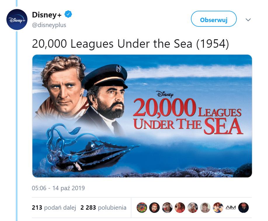 disney plus 20 tysięcy mil podmorskiej żeglugi