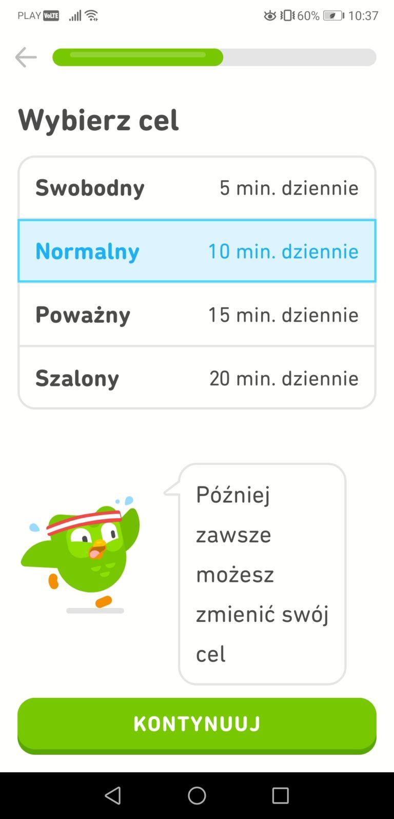 Duolinko aplikacja do nauki języków obcych