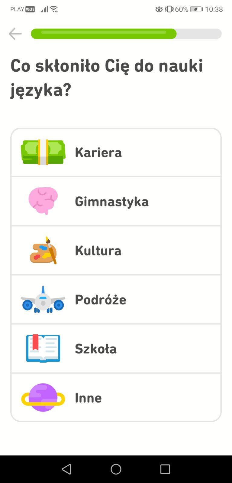 Duolingo panel
