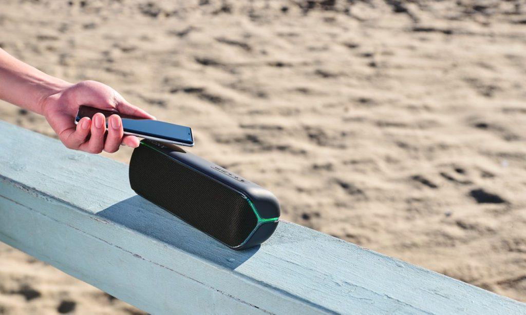 Głośnik mobilny Sony przesyłanie muzyki przez NFC