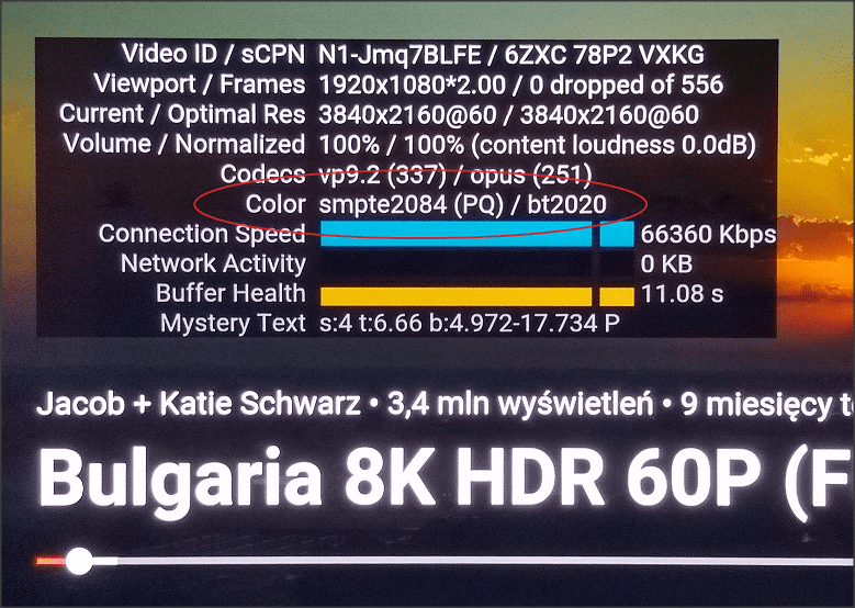 hdr youtube w tv