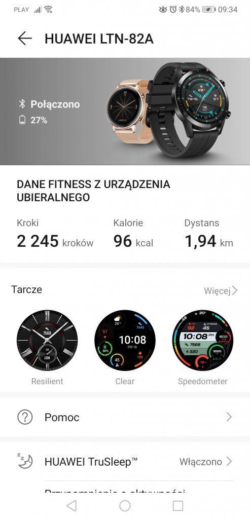 Huawei Zdrowie personalizacja