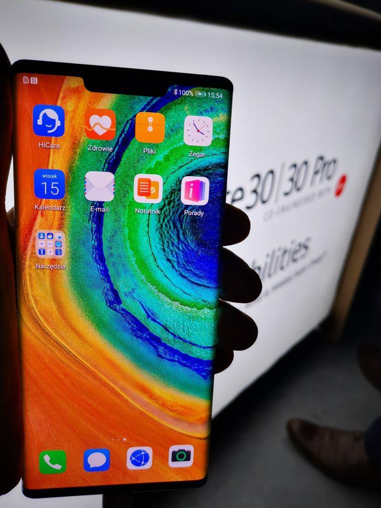 Huawei Developer Day, wyświetlacz Mate 30