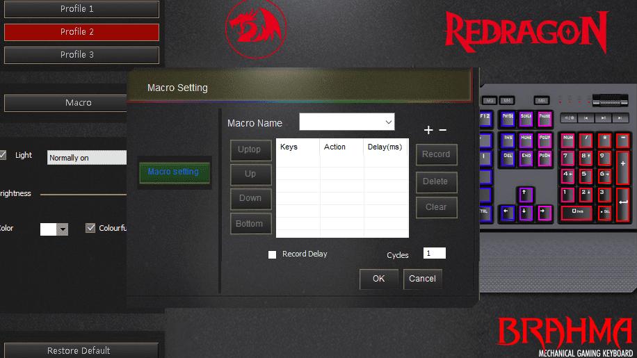 redragon brahma makra software