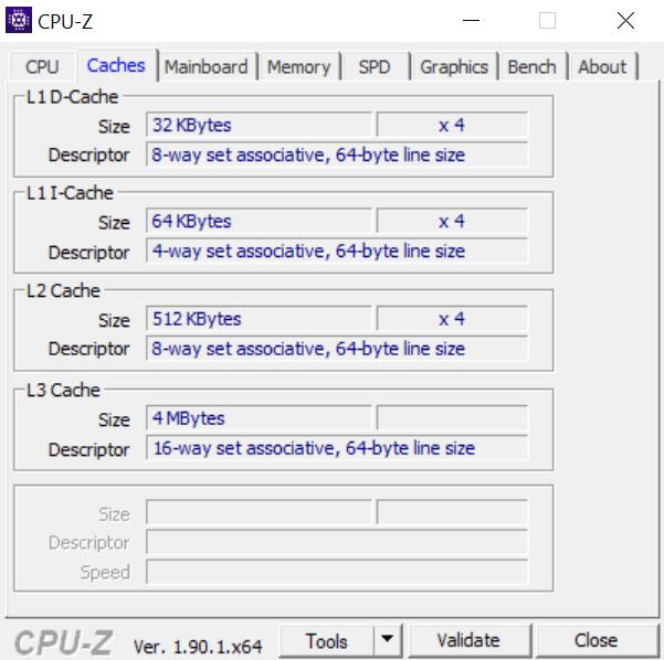 CPU-Z Surface Laptop