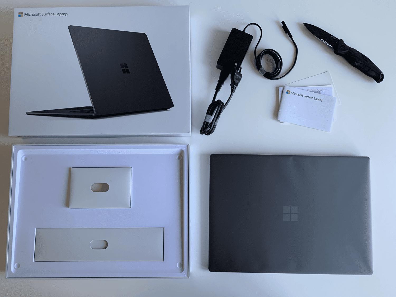 surface laptop unboxing