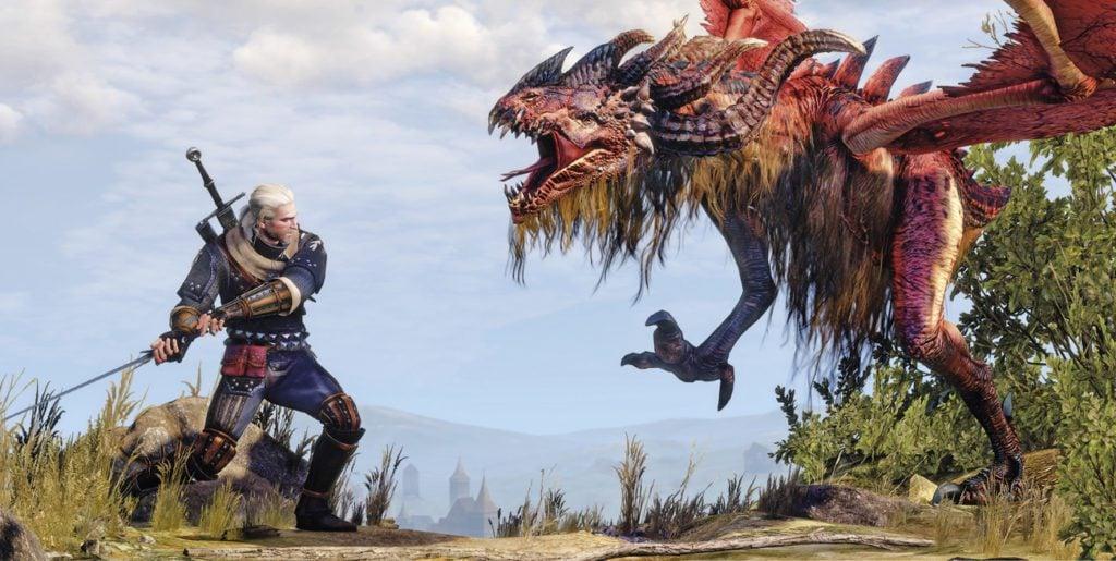 Wiedźmin 3 Dziki Gon walka z gryfem